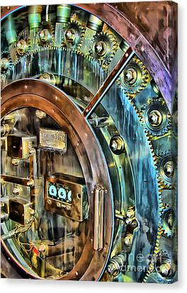 Bank Vault Door Canvas Print