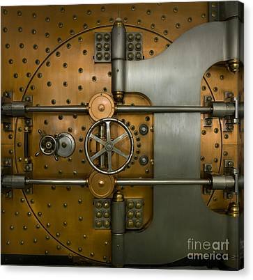 Bank Vault Door Exterior Canvas Print by Adam Crowley