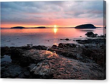 Bar Harbor Sunrise Canvas Print by Stephen  Vecchiotti