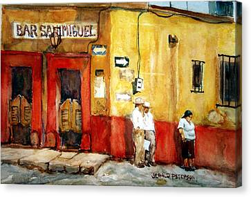 Bar San Miguel Canvas Print by Jerald Peterson
