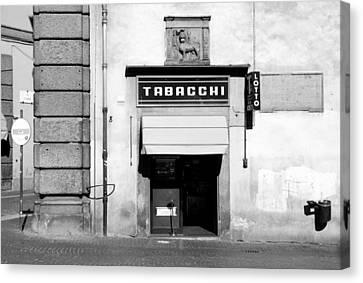 Bar Tabacchi Canvas Print by Valentino Visentini