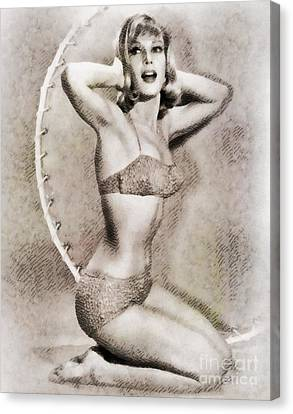 Barbara Eden, Vintage Hollywood Actress Canvas Print by John Springfield