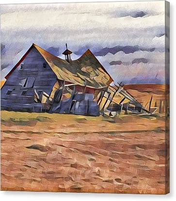 Barn Down Canvas Print