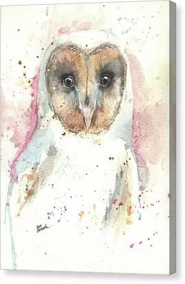 Barn Owl Canvas Print by Angel Tarantella