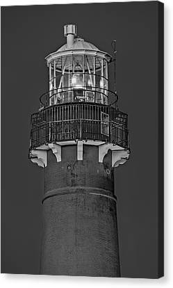 Barnegat Lighthouse Bw Canvas Print by Susan Candelario