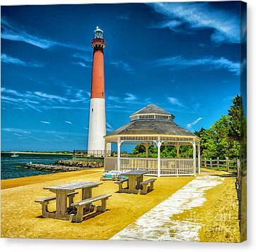 Canvas Print featuring the photograph Barnegat Lighthouse Park by Nick Zelinsky