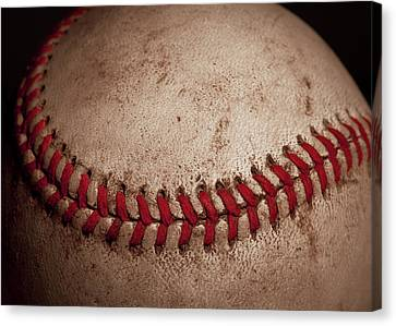 Baseball Seams Canvas Print by David Patterson