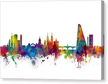 Basel Switzerland Skyline Canvas Print by Michael Tompsett
