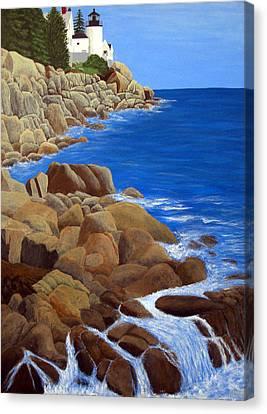 Bass Harbor Head Lighthouse Canvas Print by Frederic Kohli