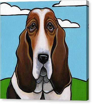 Basset Hound Canvas Print by Leanne Wilkes