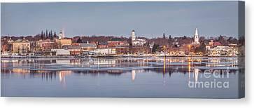 Bath Maine Panorama Canvas Print by Benjamin Williamson