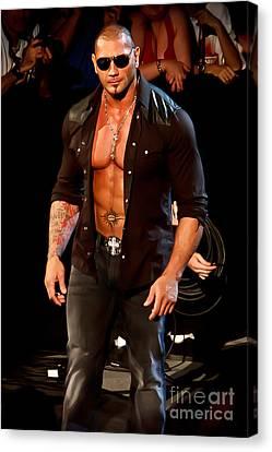 Batista Canvas Print by Wrestling Photos