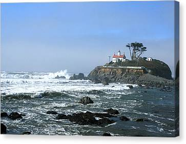 Battery Point Lighthouse Crescent City 1 Canvas Print by Larry Darnell