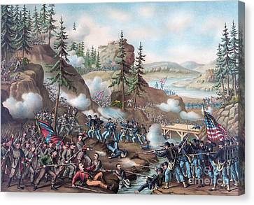 Union Bridge Canvas Print - Battle Of Chattanooga by American School