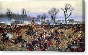 Soldiers Canvas Print - Battle Of Fredericksburg by Granger