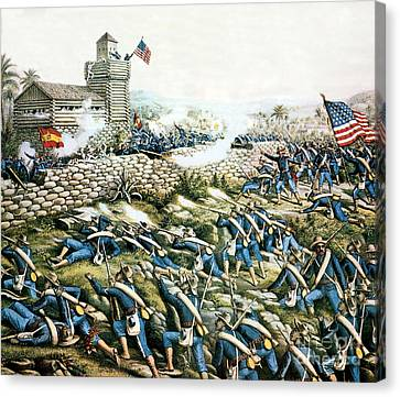 Battle Of San Juan Hill, 1898 Canvas Print