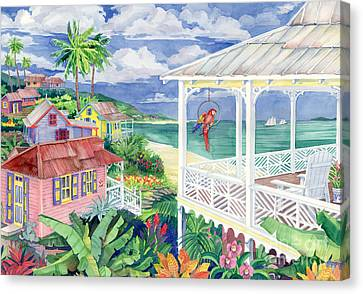 Bay Caribe Canvas Print by Paul Brent