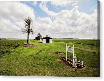 Bayou Country Church Canvas Print by Scott Pellegrin