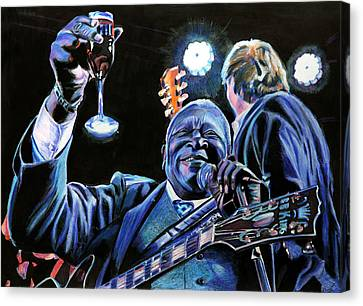 Bb King Canvas Print by Chris Benice