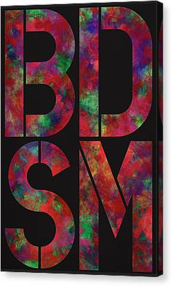 Bdsm Canvas Print by Three Dots