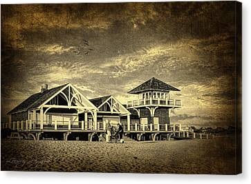 Beach House Canvas Print by Lourry Legarde
