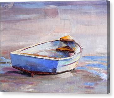 Beach Puddles Canvas Print by Trina Teele