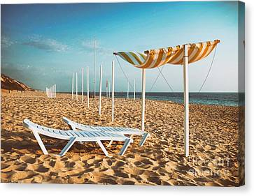 Warm Summer Canvas Print - Beach Shader by Carlos Caetano