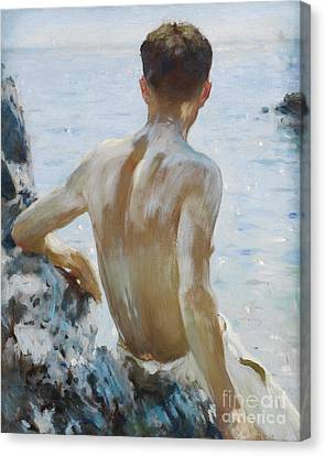 Beach Study Canvas Print