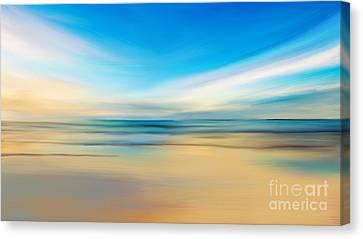 Beach Sunrise Canvas Print by Anthony Fishburne