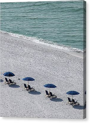 Canvas Print featuring the photograph Beach Therapy 1 by Marie Hicks