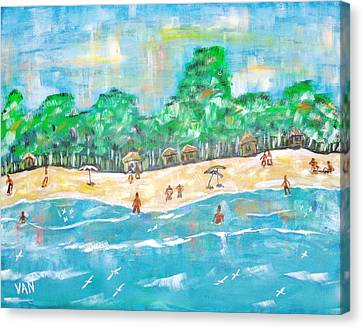 Beach Canvas Print by Van Winslow