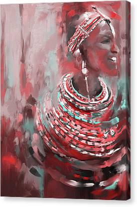 Beaded Beauty 451 IIi Canvas Print by Mawra Tahreem