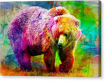 Bear Canvas Print by Elena Kosvincheva