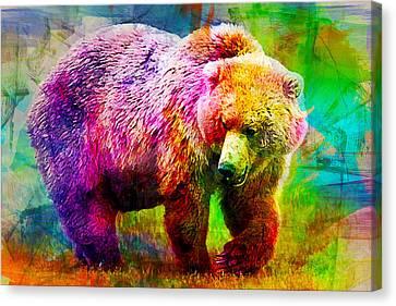Bear Canvas Print by Elena Kosvincheva