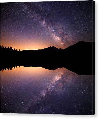 Bear Lake Milky Way Canvas Print by Darren  White