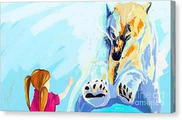 Bear Canvas Print by Lidija Ivanek - SiLa