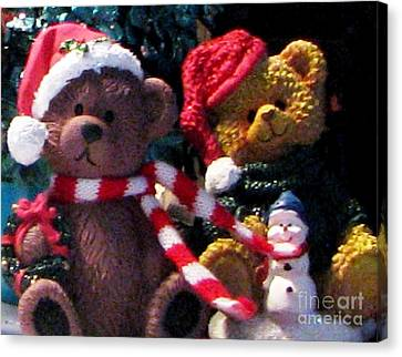Beary Merry Christmas Canvas Print