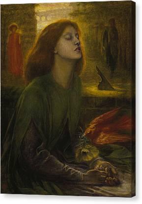 Beata Beatrix Canvas Print by Dante Gabriel Rossetti