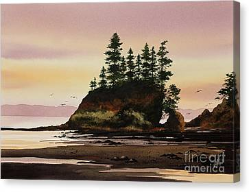 Canvas Print featuring the painting Beautiful Shore by James Williamson