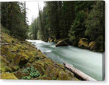 Snow Melt Canvas Print - Beautiful White Water by Jeff Swan