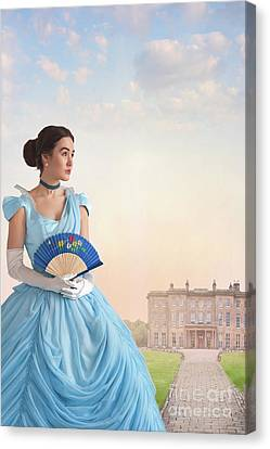Canvas Print featuring the photograph Beautiful Young Victorian Woman by Lee Avison