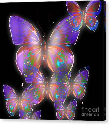 Beauty Of Butterflies Canvas Print by Gayle Price Thomas
