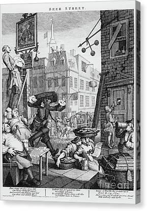 Tankard Canvas Print -   Beer Street by William Hogarth