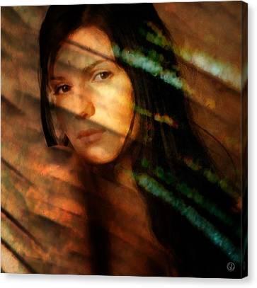 Canvas Print featuring the digital art Behind The Curtain by Gun Legler