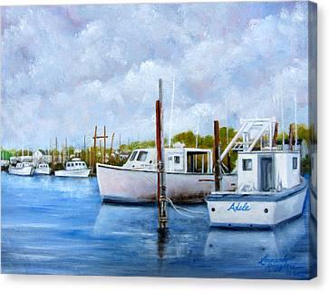 Belford Nj Fishing Port Canvas Print
