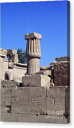 Canvas Print featuring the photograph Belief In The Hereafter - Luxor Karnak Temple by Urft Valley Art