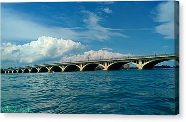 Belle Isle Bridge Canvas Print