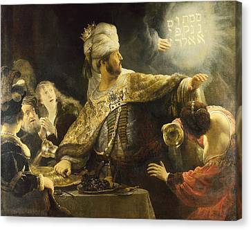 Belshazzar's Feast Canvas Print by Rembrandt