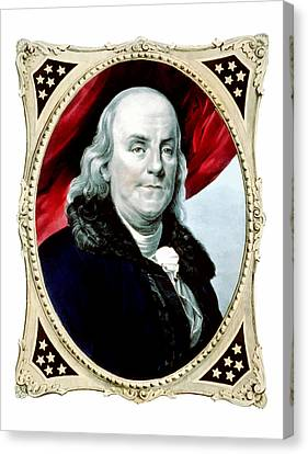Ben Franklin Canvas Print by War Is Hell Store