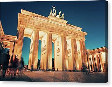 Berlin - Brandenburg Gate Canvas Print by Alexander Voss